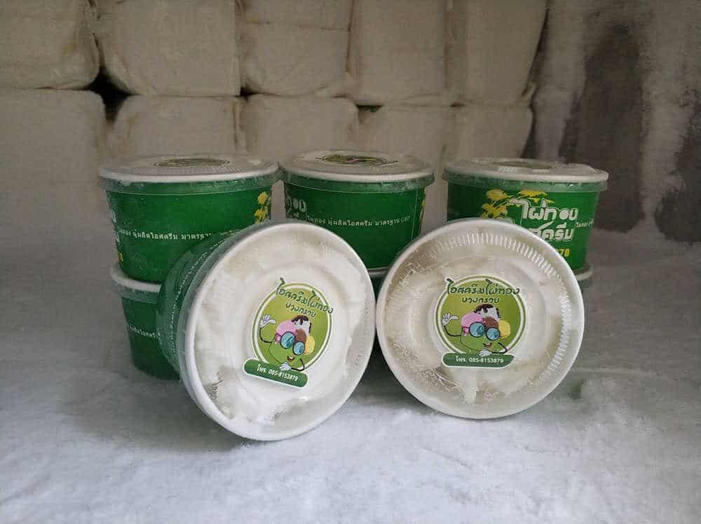 ไอศครีมไผ่ทองแบบถ้วย